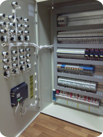 схема щита автоматики вентиляции dwg