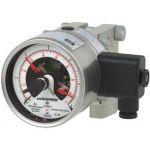 switchGAUGE Дифференциальные манометры, с электроконтактами, допустимая перегрузка до 40, 100, 250 или 400 бар, НР 100, 160 мм. Модель DPGS43HP.1x0.